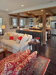 This Is How I Like Red Cozy Inviting Family Room Kitchen Great