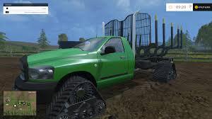 100 Trucks With Tracks Dodge Log Truck Tracked For FS15 Farming Simulator 2015 15 Mod