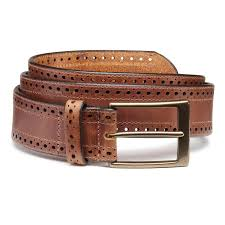 lamar men u0027s casual leather belts by allen edmonds tan leather