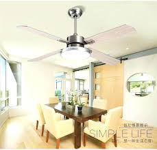 Bedroom Ceiling Fans With Lights Buy Fan Light Wooden Stainless Steel Leaves Modern Minimalist Dining Room
