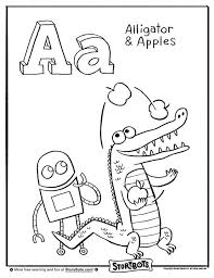 Hooray For A Heres Coloring Sheet With Alligators And Apples