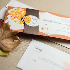 Unique Fall Wedding Invitations