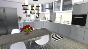 Dinha Gamer Black White Kitchen O Sims 4 Downloads