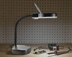 Magnifying Floor Lamp 10x se mc353b table magnifier 3 5x lamp with fluorescent light black