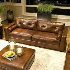 leather sofa brown leather sofa with orange pillows distressed