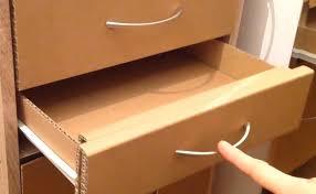 how to make a cardboard drawer corrugated cardboard furniture