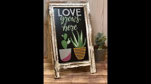 Simple Love Grows Here Chalkboard Sign Tutorial Using Chalk Couture ...