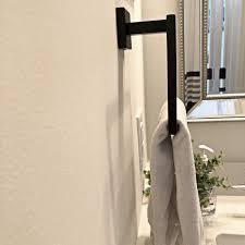 quadratisch schwarz edelstahl sumnacon handtuchhalter