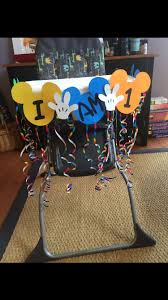 DIY Mickey Mouse Birthday High Chair Decoration   Mickey ... Minnie Mouse Room Diy Decor Hlights Along The Way Amazoncom Disneys Mickey First Birthday Highchair High Chair Banner Modern Decoration How To Make A With Free Img_3670 Harlans First Birthday In 2019 Mouse Inspired Party Supplies Sweet Pea Parties Table Balloon Arch Beautiful Decor Piece For Parties Decorating Kit Baby 1st Disney
