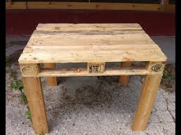 How To Build Wooden End Table by Pallet Table Easy To Make Diy Youtube