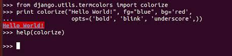 I Generally Use Colored Output For Debugging On Runserver Terminal So Added It