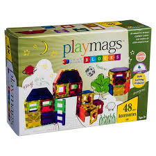 Valtech Magna Tiles Clear Colours 100 Pack by Playmags Magnetic Tile Clear Colours 48 Piece Accessory Pack Kidzinc