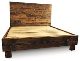 farm style platform bed frame rustic platform beds by