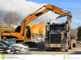 Heavy Demolition Equipment At A Building Site Editorial Stock Image ...