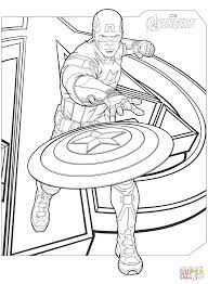 Click The Avengers Captain America Coloring Pages To View Printable