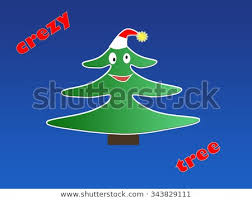 Crazy Christmas Tree Stock Illustration 343829111