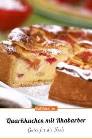 quarkkuchen mit rhabarber
