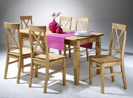 essgruppe 7teilig tisch 160x90 6 stühle kiefer massiv gelaugt geölt casade mobila