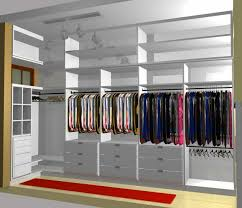 large u shaped brown mahogany walk walk in closet in a small