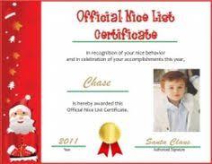 "Results for ""Santa Nice List Certificate 2014"" – Calendar 2015"