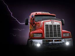 100 Transformer Truck Background Cargo Collage Dark Flash Night Poster Red Storm
