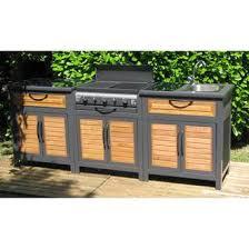 meuble cuisine exterieure bois cuisine extérieure rivoli evier barbecue gaz 3 bruleurs grill
