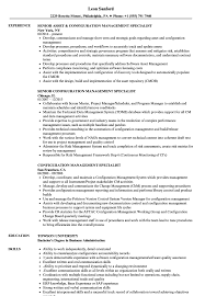 Download Configuration Management Specialist Resume Sample As Image File