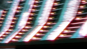 las vegas casino neon sign with light bulbs stock footage