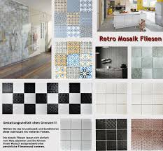 retro fliesen vintage keramik mosaik wand dusche küche