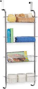 relaxdays hängeregal chrom wandregal badezimmer badregal metall küchenregal zum einhängen hbt 112x45x23 cm silber