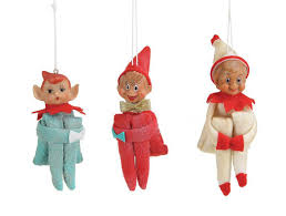 Elf Knee Hugger Christmas Tree Ornaments Set 6 Click To View Additional Images