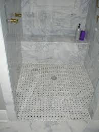 marble on shower floor slippery