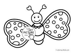 Coloring Pages For Kids To Print Best Butterfly Cute Printable Free