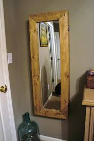 Mirrored Jewelry Box Armoire by Diy Wood Framed Mirrordiy Free Standing Full Length Mirror Jewelry