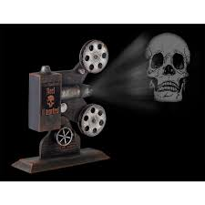 Motion Activated Outdoor Halloween Decorations by Home Accents Holiday 13 In Haunted Theater Projector With Led