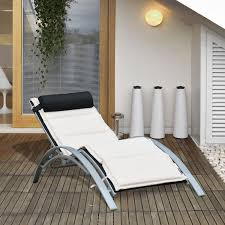 Outsunny Adjustable Patio Reclining Outdoor Chaise Lounge Chair With  Cushion And Pillow (Black) Phi Villa Outdoor Patio Metal Adjustable Relaxing Recliner Lounge Chair With Cushion Best Value Wicker Recliners The Choice Products Foldable Zero Gravity Rocking Wheadrest Pillow Black Wooden Recling Beach Pool Sun Lounger Buy Loungerwooden Chairwooden Product On Details About 2pc Folding Chairs Yard Khaki Goplus Wutility Tray Beige Headrest Freeport Park Southwold Chaise Yardeen 2 Pack Poolside