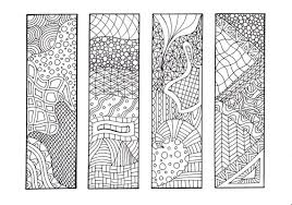 Zentangle Inspired Printable Coloring Bookmarks 12 Unique Designs To Print And Color