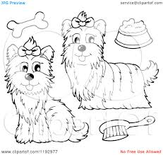 Coloring Pages Of Yorkie Puppies Dog Free And
