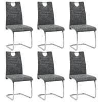 6er set esszimmerstühle stühle freischwinger stühle bow esstischstuhl küchenstuhl barstuhl hohe rückenlehne grau