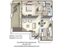 1 Bedroom Apartments Colorado Springs by One Belmar Place Apartments Colorado Springs Co