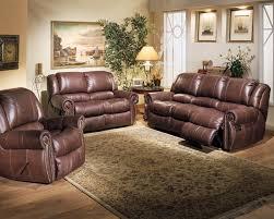 FurnitureLuxurious Full Grain Leather Sofa Set For Awesome Furniture