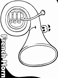 Frenchhorn Face Music Coloring Pages