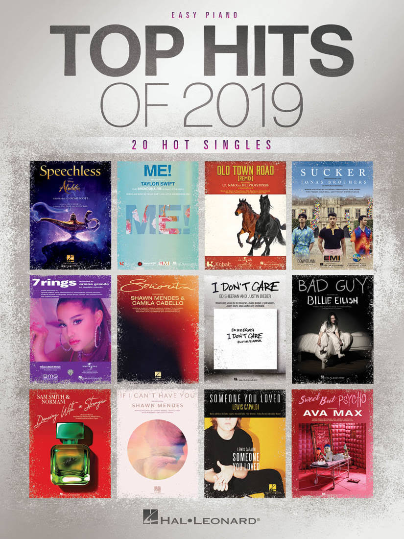 Top Hits of 2019 Easy Piano Songbook