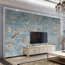 custom foto tapete 3d blumen und vögel fresco wohnzimmer tv