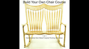 Build Your Own Chair Class - Curly Maple Double Rocking Chair