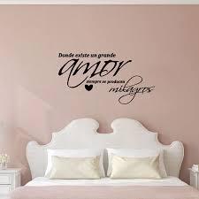 spanisch arte de la pared dormitorio vinyl wand aufkleber wand abziehbilder für schlafzimmer dekoration freies verschiffen