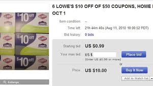 Tricks Of The Cheapskate Trade: Buying Coupons On EBay - CNET Lowes 10 Percent Moving Coupon Be Used Online Danny Frame The Top Lowes Spring Black Friday Deals For 2019 National Apartment Association Discount For Pros Dell Canada Code Coupon Help J Crew 30 Off June Promo One 1x Off Exp 013118 Code How To Use Promo Codes And Coupons Lowescom Ebay Baby Lotion Coupons 2018 20 Ad Sales Printable 20 December 2016 Posts Facebook To Apply