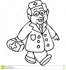 Royalty Free Illustration Download Doctor Book Kids Coloring Page