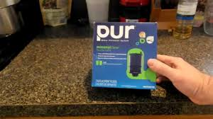 Pur Advanced Faucet Water Filter Leaks by Pur Mineral Clear Faucet Filter Review Youtube