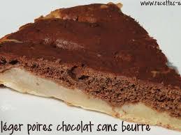 dessert aux poires leger recettes de gâteau léger et poire